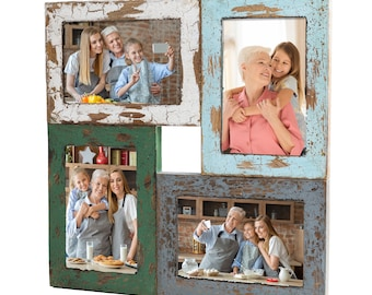 Collage Picture Frames Fits 4x6 Pictures With A Vintage Rustic Farmhouse Finish