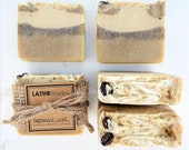 2 Peppermint Latte Soaps - Energizing Exfoliating - Vegan