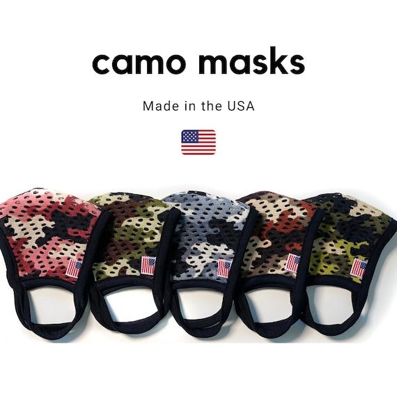 Kids Triple Layer Face Masks - Camo