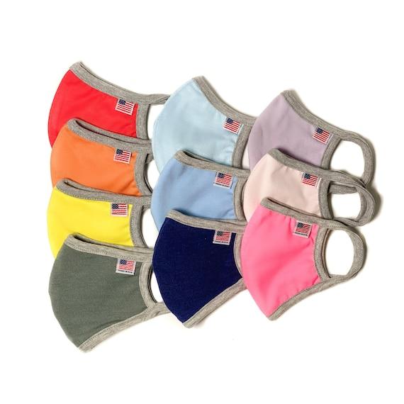 Kids Face Mask | Children's Washable Reusable Cloth Masks | Made in the USA | Toddler cotton masks | Girl Boy masks | 2ply OR filter pocket