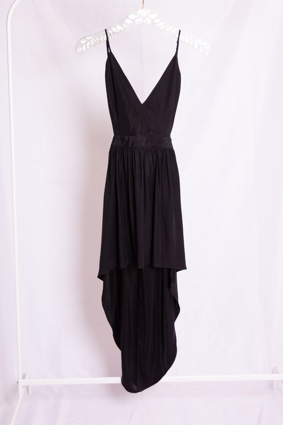 Open Back Black Dress - image 2