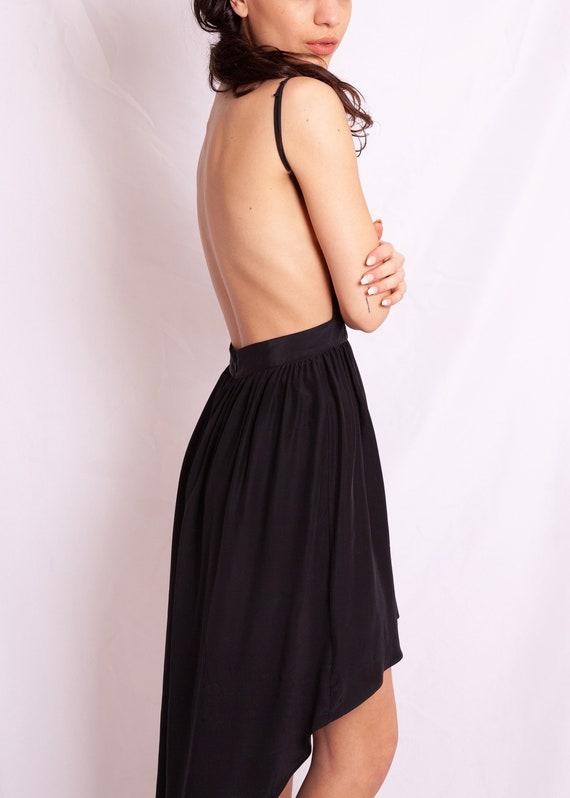 Open Back Black Dress - image 3