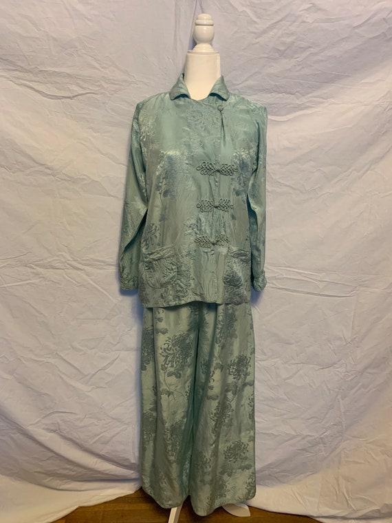 Vintage 1920s Chinese Silk Beach Pajamas