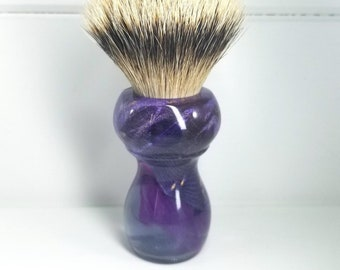 24mm Shaving Brush - Wet Shaving Brush - High Mountain White - Shave Brush - Shaving Supplies - Badger Brush - Synthetic Knot