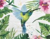 Decoupage Napkin, 6.5 quot x 6.5 quot , Hummingbird, Scrapbooking, Decoupage Art, Junk Journals, Collage Paper, Journal Art, Tissue Decoupage, 067