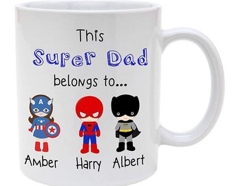 SUPER HERO COLOUR YOUR OWN MUG Kids Girls Drinking Cup Birthday Santa Gift Box