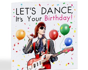 David Bowie Card Etsy