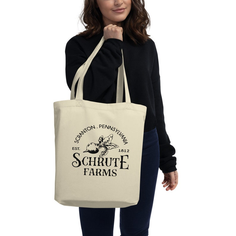 Schrute Farms Eco Tote Bag Funny The Office Bag TV Quotes Apparel Funny TV Hipster Bag The Office Fan Gift Dwight Schrute Beet Farm