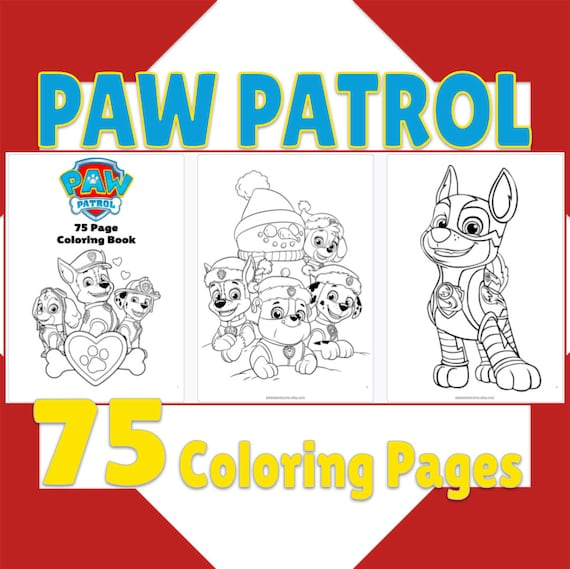75 Paw Patrol Coloring Pages Paw Patrol Coloring Book
