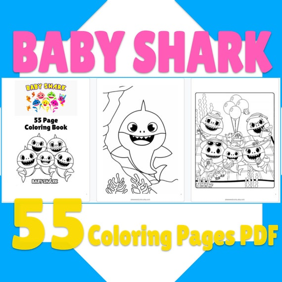55 Baby Shark Coloring Pages Baby Shark Printable Coloring