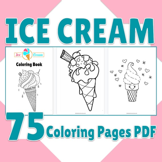 Ice Cream Coloring Pages Printable Ice Cream Coloring Book 75