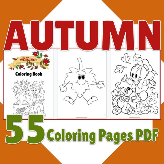 Fall Coloring Pages Printable 55 Page Autumn Season Coloring