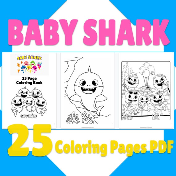 25 Baby Shark Coloring Pages Printable Baby Shark Coloring