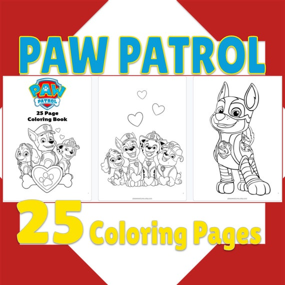 25 Paw Patrol Coloring Pages Party Gift Paw Patrol Coloring