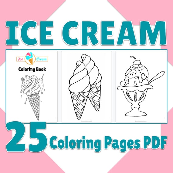 Ice Cream Coloring Pages Printable Ice Cream Coloring Book 25
