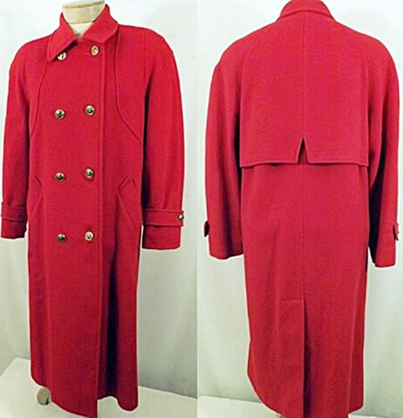 70's Vintage Mackintosh Red Wool Overcoat