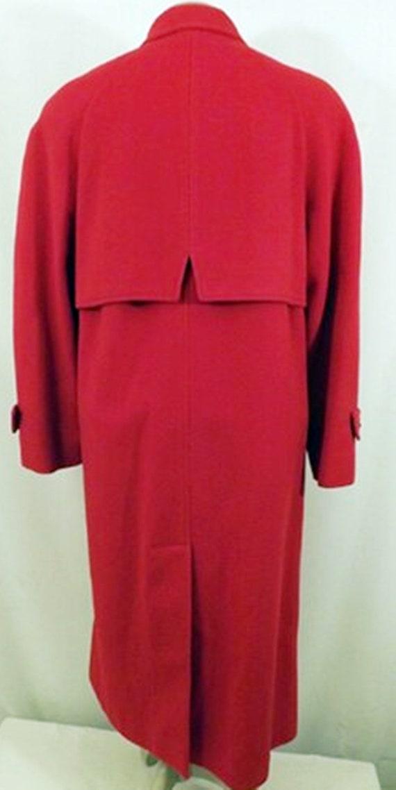 70's Mackintosh Red Wool Overcoat - image 7