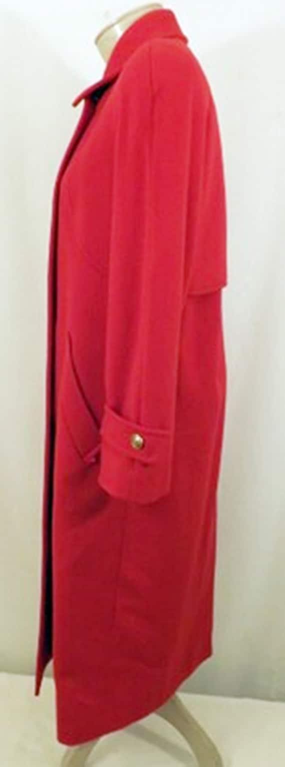 70's Mackintosh Red Wool Overcoat - image 6