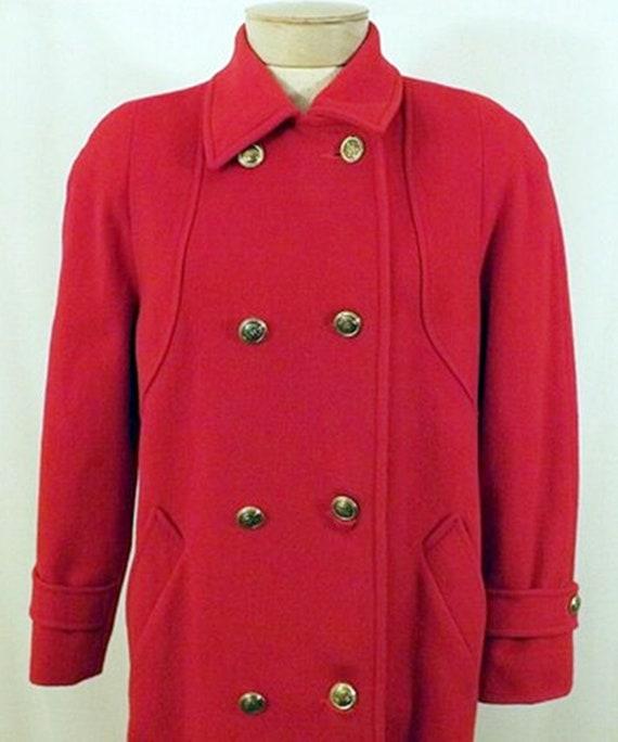 70's Mackintosh Red Wool Overcoat - image 4