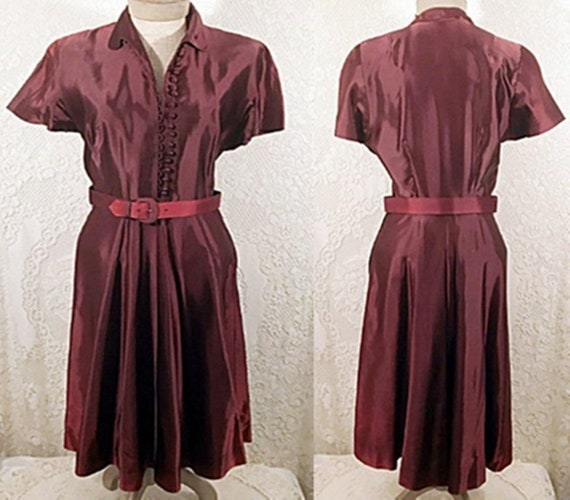40s Vintage Silk Evening Dress or Gown