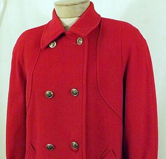 70's Mackintosh Red Wool Overcoat - image 2