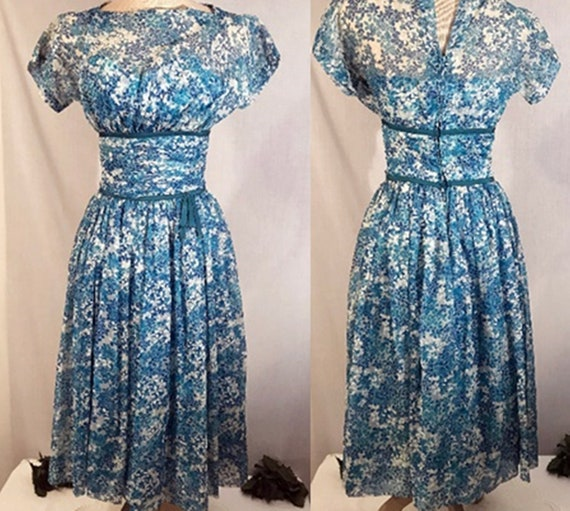 50's Dress | 50's Party or Evening Swing Dress by