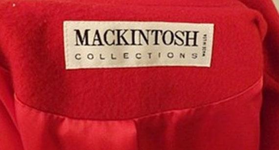 70's Mackintosh Red Wool Overcoat - image 8