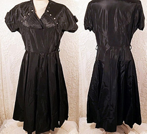 50's Satin Swing Dress Evening Party Dress