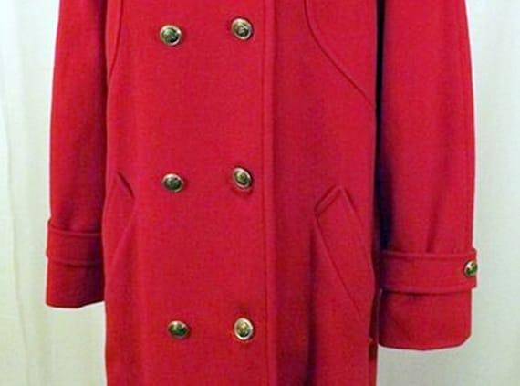 70's Mackintosh Red Wool Overcoat - image 5