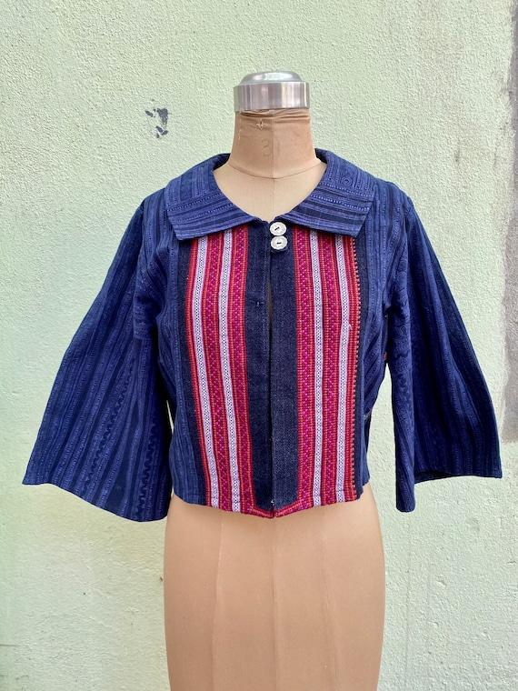 RARE, vintage, Thai, bolero, jacket, handmade, bat