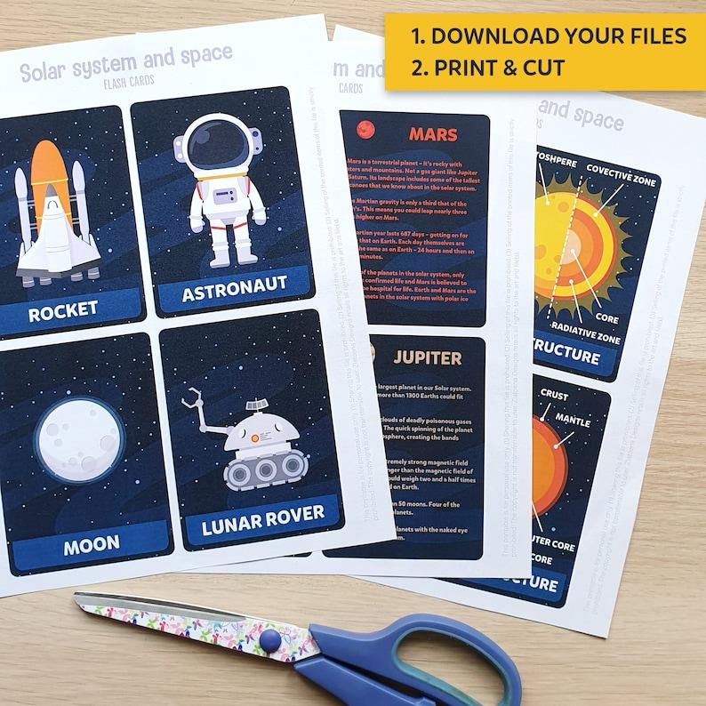 Solar System Flashcards Planets Flashcards Printable Planets Flash Cards Solar system Flashcards Space Educational Flash Cards Space Planets