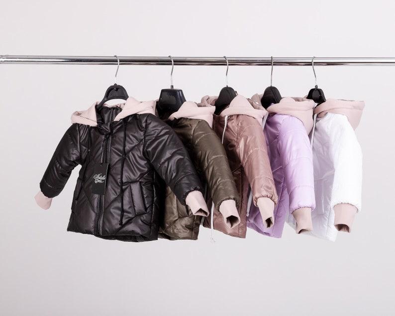 Children Puffer Jacket  Vintage Unisex Down Jacket  Demi-season jacket