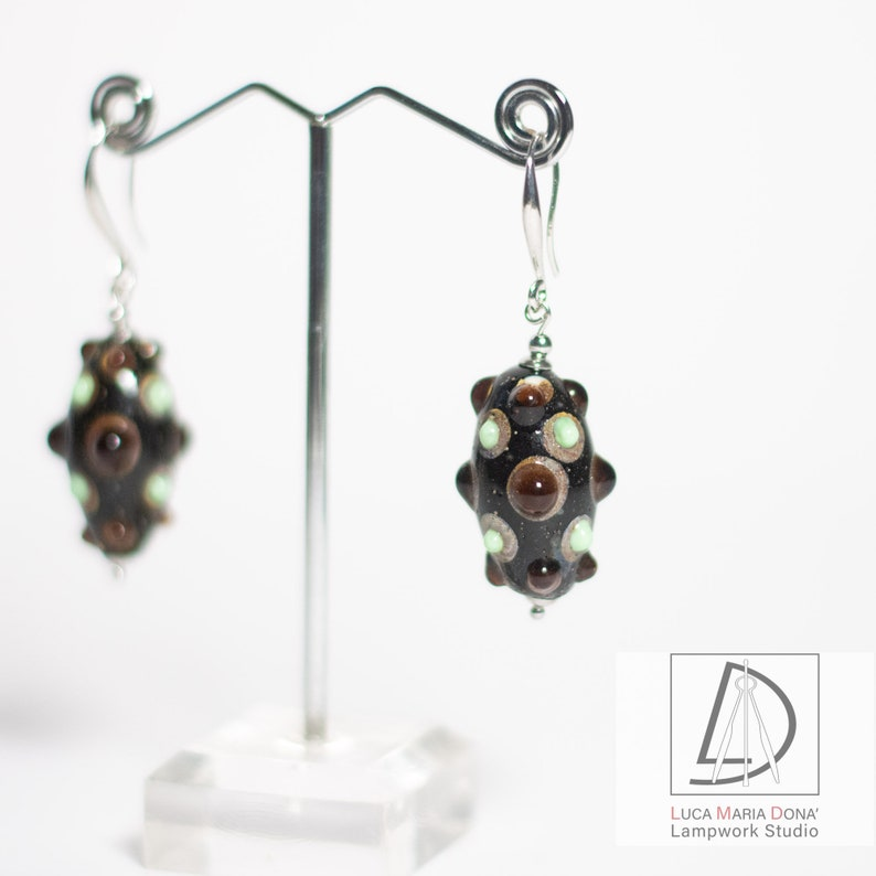GLASS BEADS EARRINGS Lampwork Studio Murano Glass