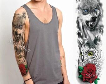 Half Sleeve Tattoo Etsy