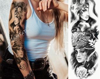 Fake Tattoo Sleeve Etsy