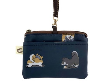Dog dogs puppy puppies handmade zipper fabric coin change purse card holder