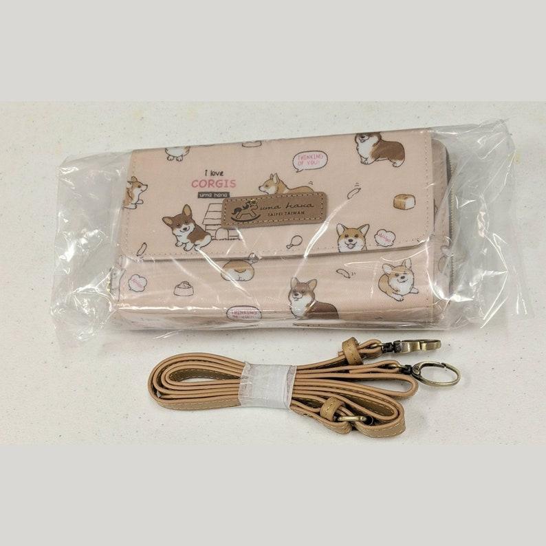 Women/'s Pony Zippers Corgi Puppy Crossbody Shoulder Clutch Wallet Waterproof