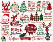 Christmas SVG Bundle, Christmas Svg, Winter Svg, Christmas cut files, Christmas for Shirts, Buffalo Plaid, Christmas Cricut, Silhouette, PNG