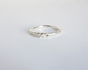 Bubble Stacking Ring, Sterling  925 Silver, Handmade, Everyday wear.