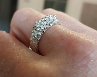 Chunky Silver Bubble Ring