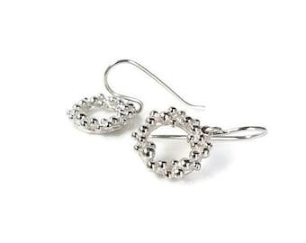 Sterling (925) Silver Seafoam Earrings