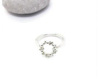 Sterling (925) Silver handmade Seafoam Ring