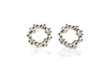 Sterling Silver Seafoam Stud Earrings.