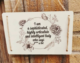 ABSOFUCKINGLUTELY SHABBY CHIC SIGN HOME SIGN GIFT