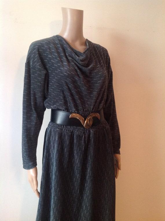 MARIMEKKO 1970's Vintage Mid Calf Long Dress, Batw
