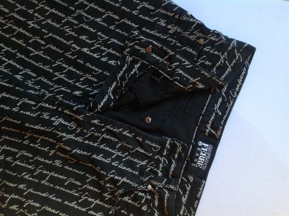 GIANFRANCO FERRE Black White Pattern High Waist S… - image 9