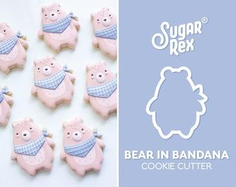 Bear in Bandana Cookie Cutter