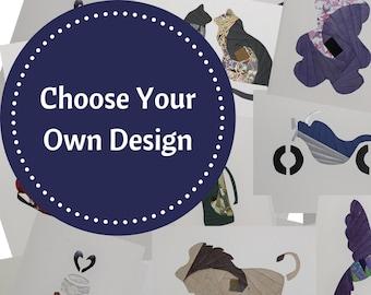 Custom Cards - Choose Your Own Design   Blank Greeting Card - Unique Handmade Iris Folding Gift Card