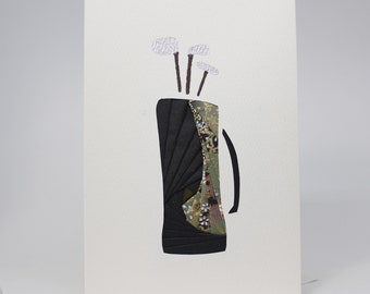 Golf - Blank Greeting Card - Unique Handmade Iris Folding Gift Card - Father's Day   Sports and Hobbies