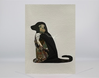 Father's Day   Dog Card - Blank Greeting Card - Unique Handmade Iris Folding Gift Card - Poodle   Collie   Dachshund   Scottie